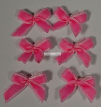 2.2 x 2.2 cm PINK Bow Velvet Ribbon Bow